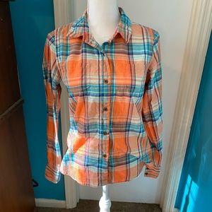 The north face long sleeve button up flannel